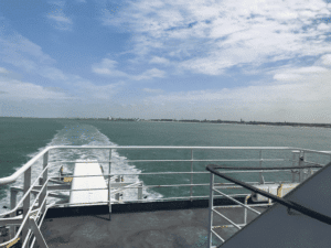 Caravan on a ferry