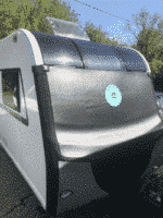 Caravan Front Towing Cover Caravan Front Protection Covers with 2 LED Lights,Upgraded Fasteners Caravan Front Cover